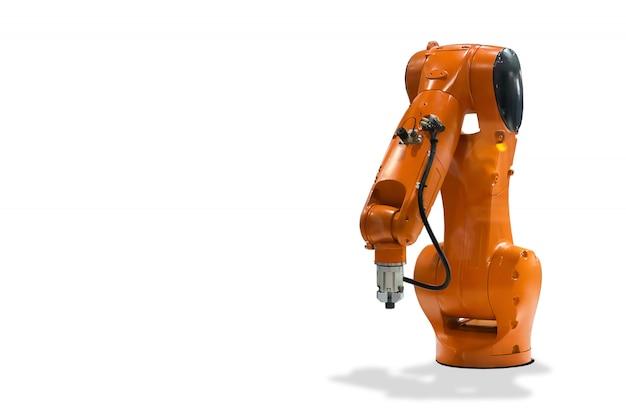 Mechaniczna ręka technologia robota przemysłowego Premium Zdjęcia