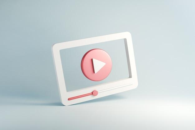 Media Społecznościowe, Minimalny Interfejs Odtwarzacza Multimediów Wideo. Premium Zdjęcia