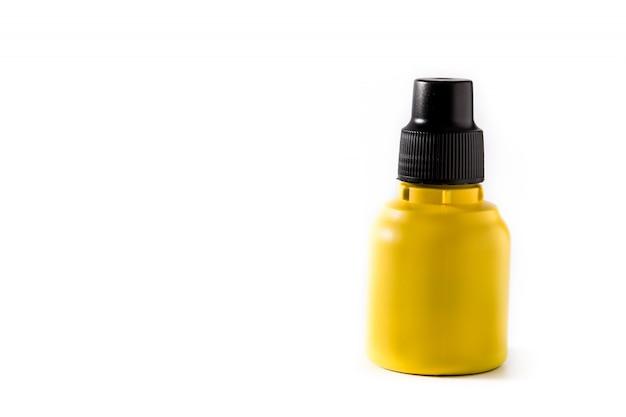 Medyczny jod w butelce na bielu. Premium Zdjęcia