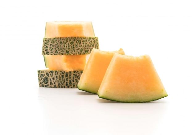 Melona Kantalupa Na Białym Darmowe Zdjęcia