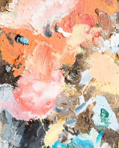 Messy abstrakcyjne malarstwo teksturowane Darmowe Zdjęcia