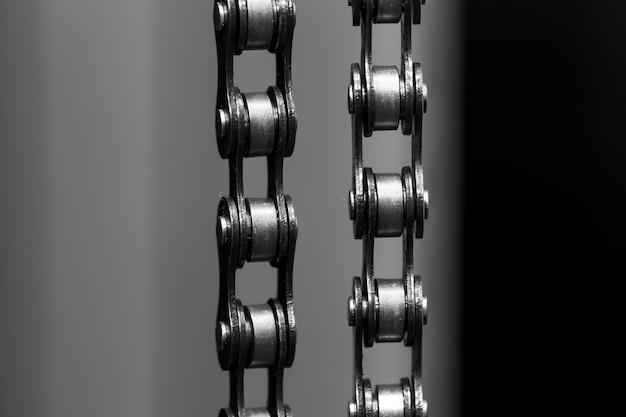 Metalowy łańcuch Rowerowy. Zbliżenie Darmowe Zdjęcia