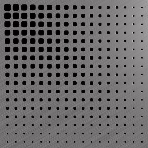 Metalowy Panel Perforowany. Ilustracja 3d Premium Zdjęcia