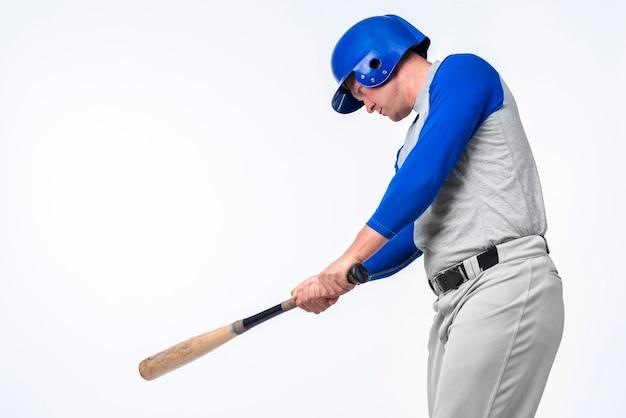 Mężczyzna Gra Z Kijem Baseballowym Darmowe Zdjęcia