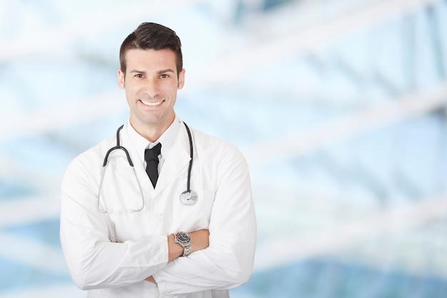 Mężczyzna lekarz Premium Zdjęcia