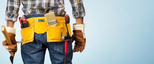 Mężczyzna Pracownik Budowlany Premium Zdjęcia