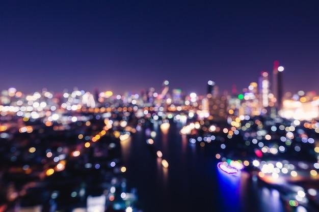 Miasto światła Bokeh Premium Zdjęcia