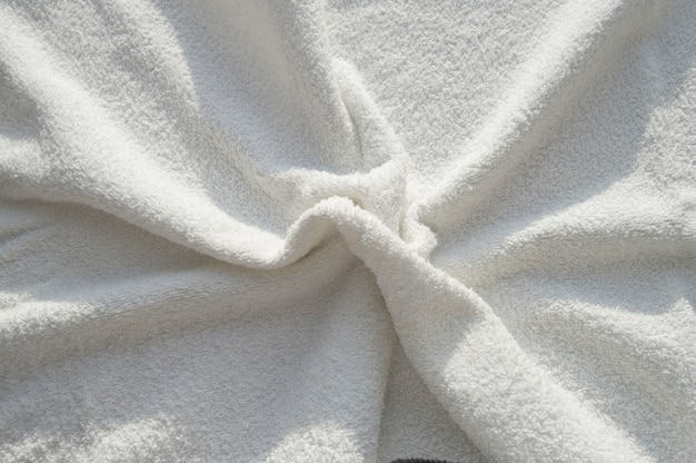 Miękki ręcznik z białego frotte do zabiegów spa Premium Zdjęcia