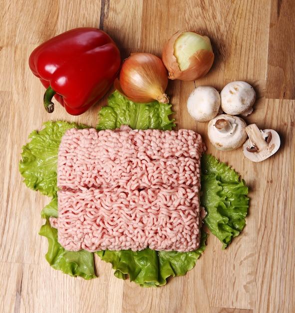 Mielone Mięso I Warzywa Darmowe Zdjęcia