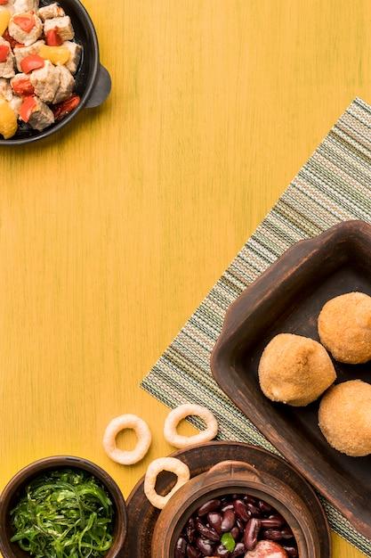 Mieszkanie Leżało Smaczne Brazylijskie Jedzenie Darmowe Zdjęcia