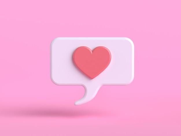 Miłość Emocja Postać Z Kreskówki Różowy Emoji Renderowania 3d Premium Zdjęcia
