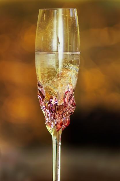 Miłość Obrączki Szklane Szampana Premium Zdjęcia