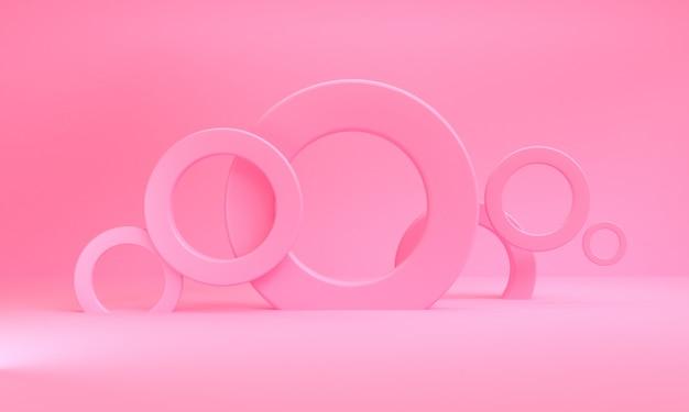 Minimalistyczne abstrakcyjne figury geometryczne tło Premium Zdjęcia