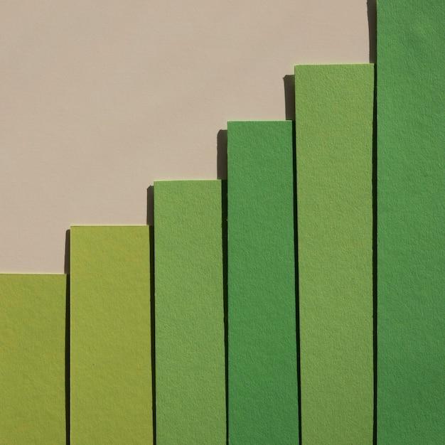 Minimalistyczne Streszczenie Gradientowe Zielone Warstwy Papieru Darmowe Zdjęcia