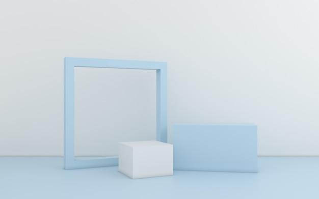 Minimalna Abstrakcyjna Geometryczna. Renderowania 3d Premium Zdjęcia