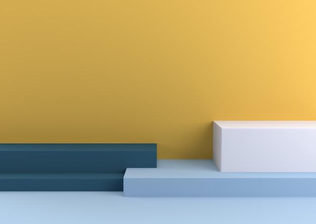 Minimalny Kształt Geometryczny Pastelowy Kochający Renderowania 3d. Premium Zdjęcia