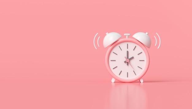 Minimalny Różowy Budzik Premium Zdjęcia