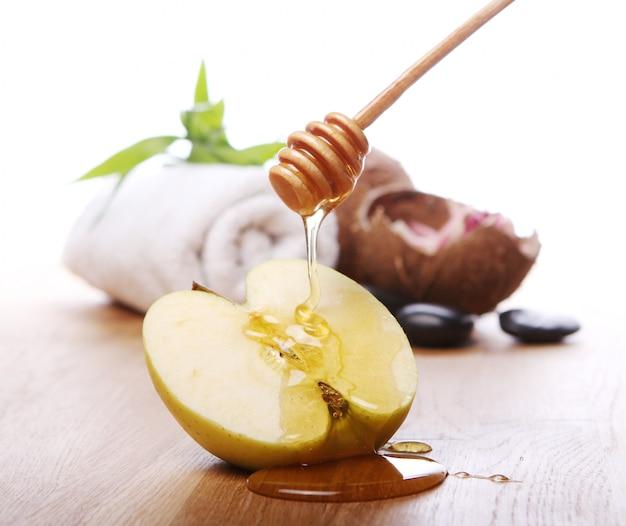 Miód I Jabłko Darmowe Zdjęcia