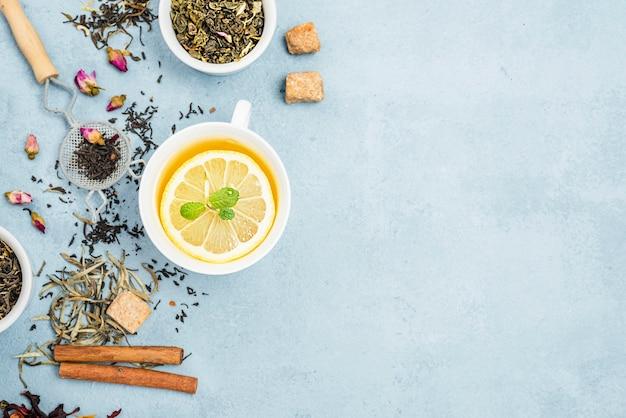 Miski Z Herbacianymi Ziołami I Herbatą Cytrynową Darmowe Zdjęcia
