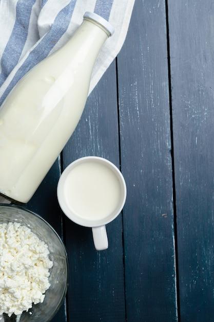 Mleko I Twarożek Premium Zdjęcia