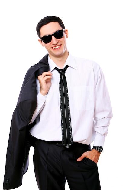 Młody Biznesmen W Okularach Przeciwsłonecznych Darmowe Zdjęcia