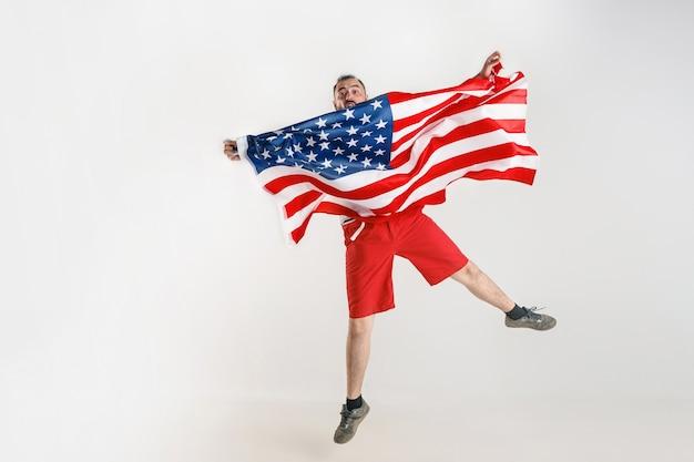 Młody Człowiek Z Flagą Stanów Zjednoczonych Ameryki Darmowe Zdjęcia