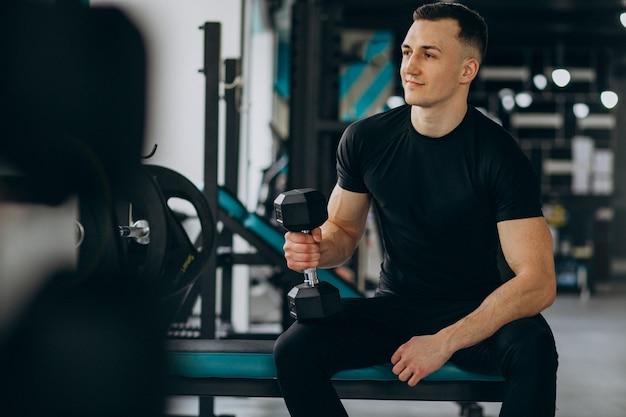 Młody Mężczyzna Sport Trening Na Siłowni Darmowe Zdjęcia