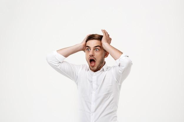 Młody Sukcesy Biznesmen Krzyczy, Panika. Darmowe Zdjęcia