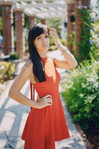 Moda Kobiety Czerwona Sukienka Darmowe Zdjęcia