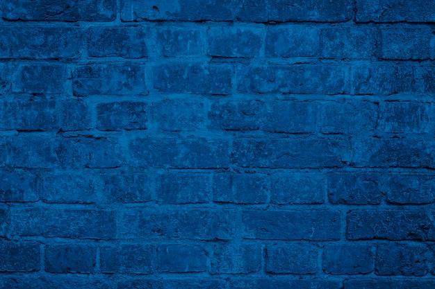 Modna Tekstura Niebieski Mur Z Cegły Premium Zdjęcia