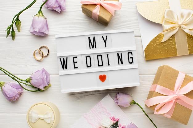 Mój Symbol Serca ślubu I Kwiaty Darmowe Zdjęcia