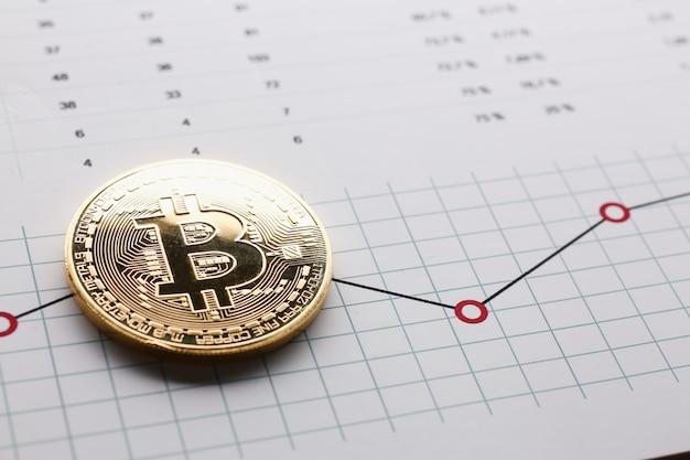 Moneta Bitcoin Kryptowaluty Przeciwko Premium Zdjęcia