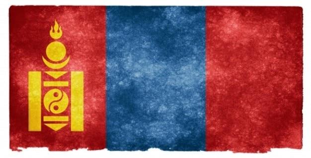 Mongolia Grunge Flag Darmowe Zdjęcia