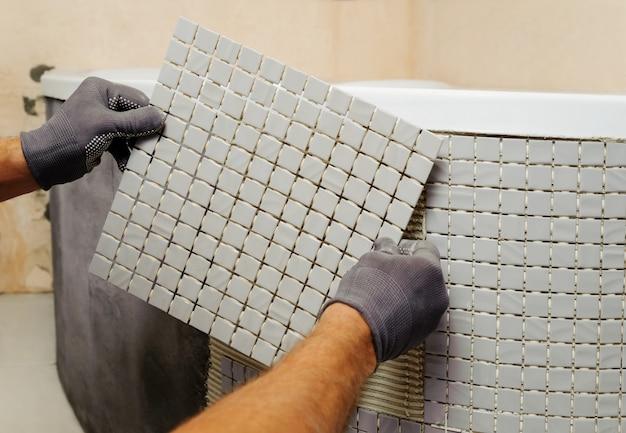 Montaż Mozaiki. Premium Zdjęcia