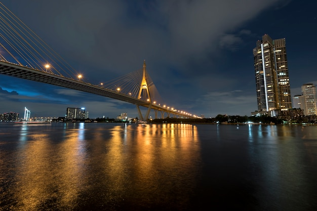 Most Przez Rzekę O Zmierzchu, The Industrail Ring Road Premium Zdjęcia