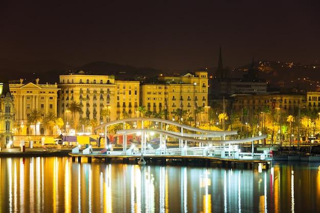 Most W Port Vell W Nocy. Barcelona Darmowe Zdjęcia