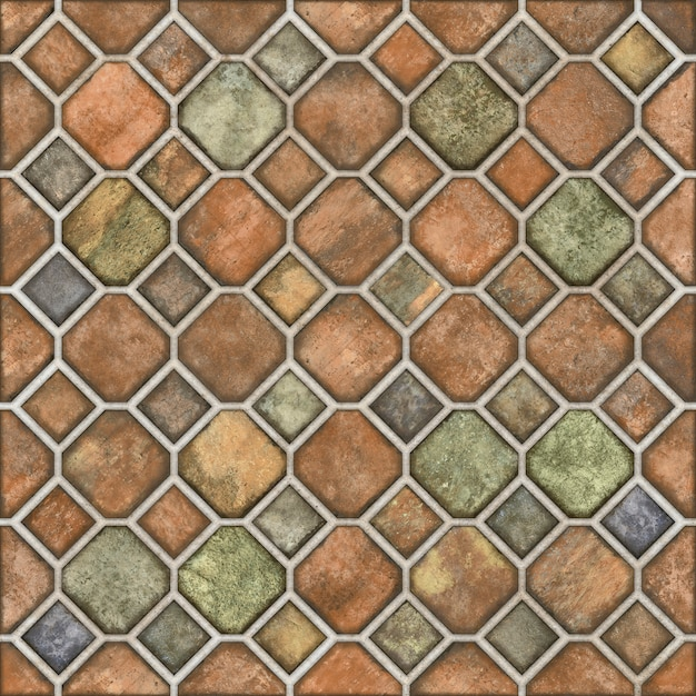 Mozaika Kamienna Podłoga Premium Zdjęcia