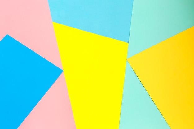 Multicolor tło z papieru o różnych kolorach. Premium Zdjęcia