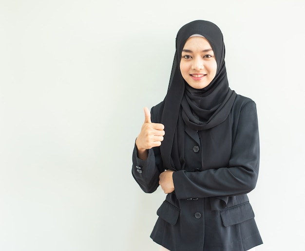 Muslimgirlworkportrait Premium Zdjęcia