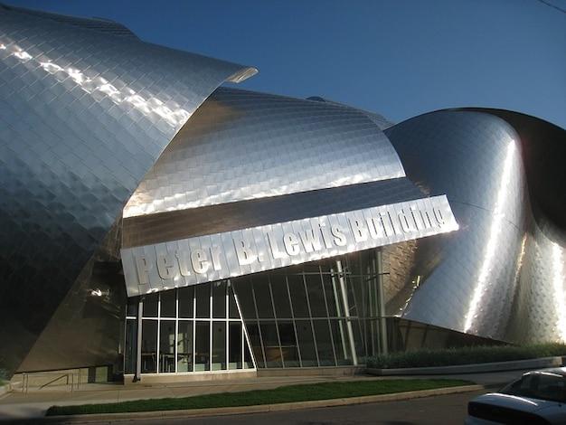 Muzeum Sztuki Architektura Cleveland Ohio Detail Darmowe Zdjęcia