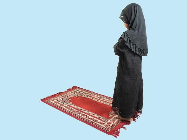 Muzułmanka W Sukience Modląc Się Premium Zdjęcia
