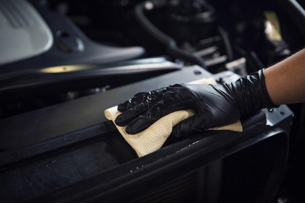 Myjnia Samochodowa. Szczegół Maszyny W Zbliżeniu Piany. Powierzchnia Maszyny Premium Zdjęcia
