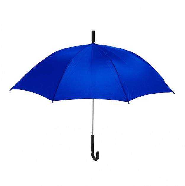 Na Białym Tle Niebieski Parasol Premium Zdjęcia