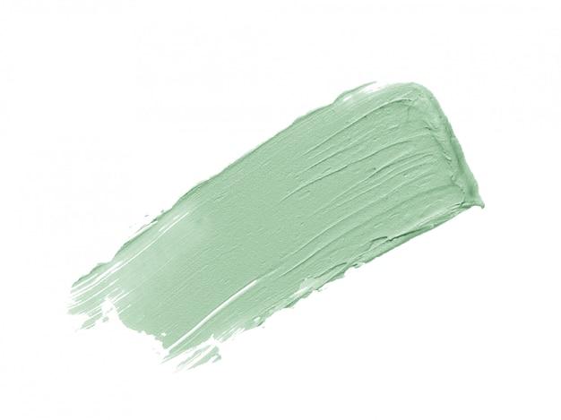 Na Białym Tle Zielony Korektor Korygujący Obrys Korektora Premium Zdjęcia