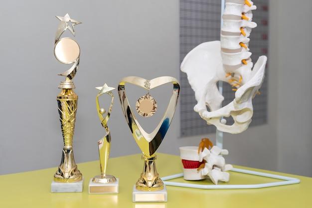 Nagrody I Trofea W Gabinecie Lekarskim Premium Zdjęcia