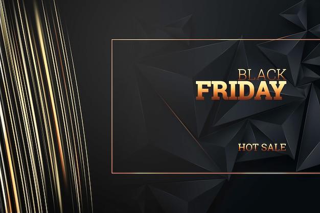 Napis czarny piątek na ciemnym tle Premium Zdjęcia