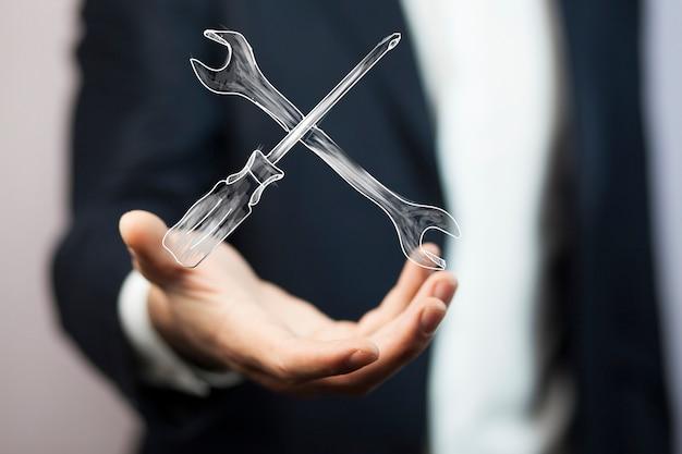 Narzędzia Ręczne Mechanika Człowieka Premium Zdjęcia