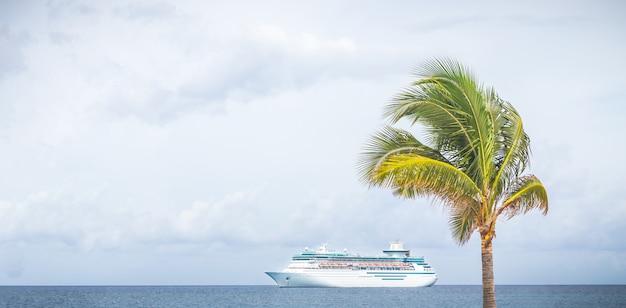 Nassau, statek royal caribbean pływa w porcie na bahamach Premium Zdjęcia