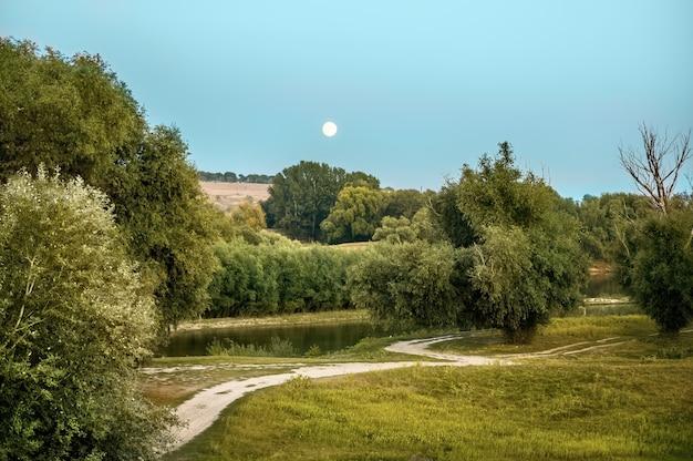 Natura Mołdawii, Nakręcona Z Ziemi Podczas Pełni Księżyca Darmowe Zdjęcia