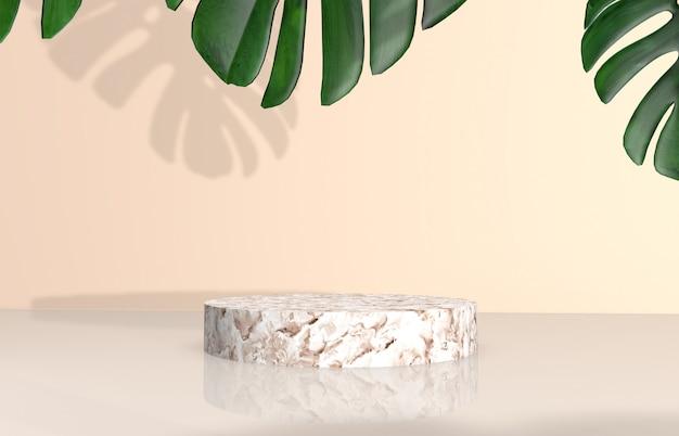 Naturalne piękno tła do wyświetlania produktów kosmetycznych. Premium Zdjęcia